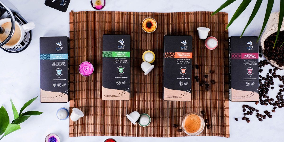 Blue Goose Eco Coffee Pod Capsules Range Nespresso Machine