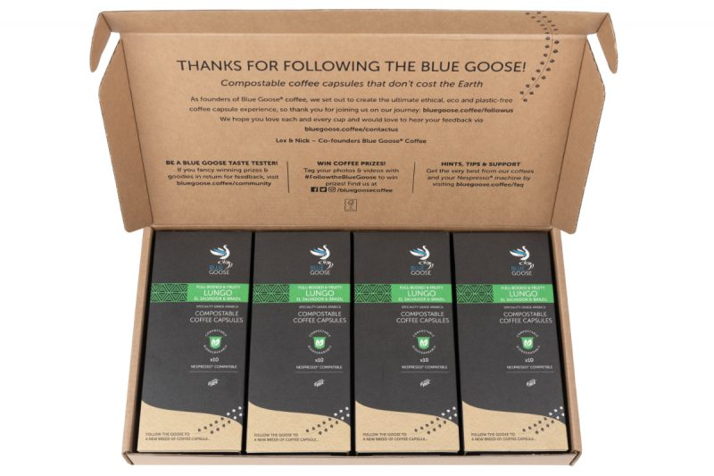 Biodegradable-Compostable-Nespresso-Coffee-Pods-Blue-Goose-Plastic-Free-Eco-Coffee-Capsules-Lungo