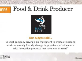 Blue Goose Eco Coffee Capsules wins Exeter Living Awards Food & Drink Category