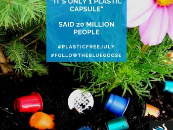 Plastic coffee capsules & pods are environmental disaster - eco coffee pods & capsules provide and alternative blue goose coffee
