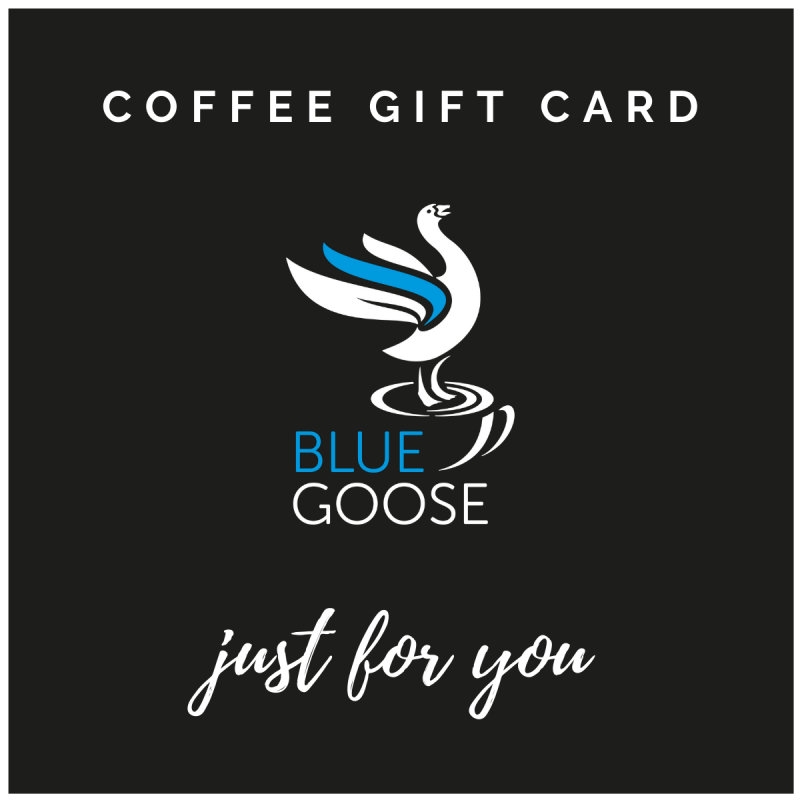 Coffee gift card compostable coffee pods capsules ground bean coffee Blue Goose