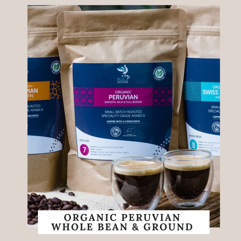 Organic Peruvian Whole Bean & Ground