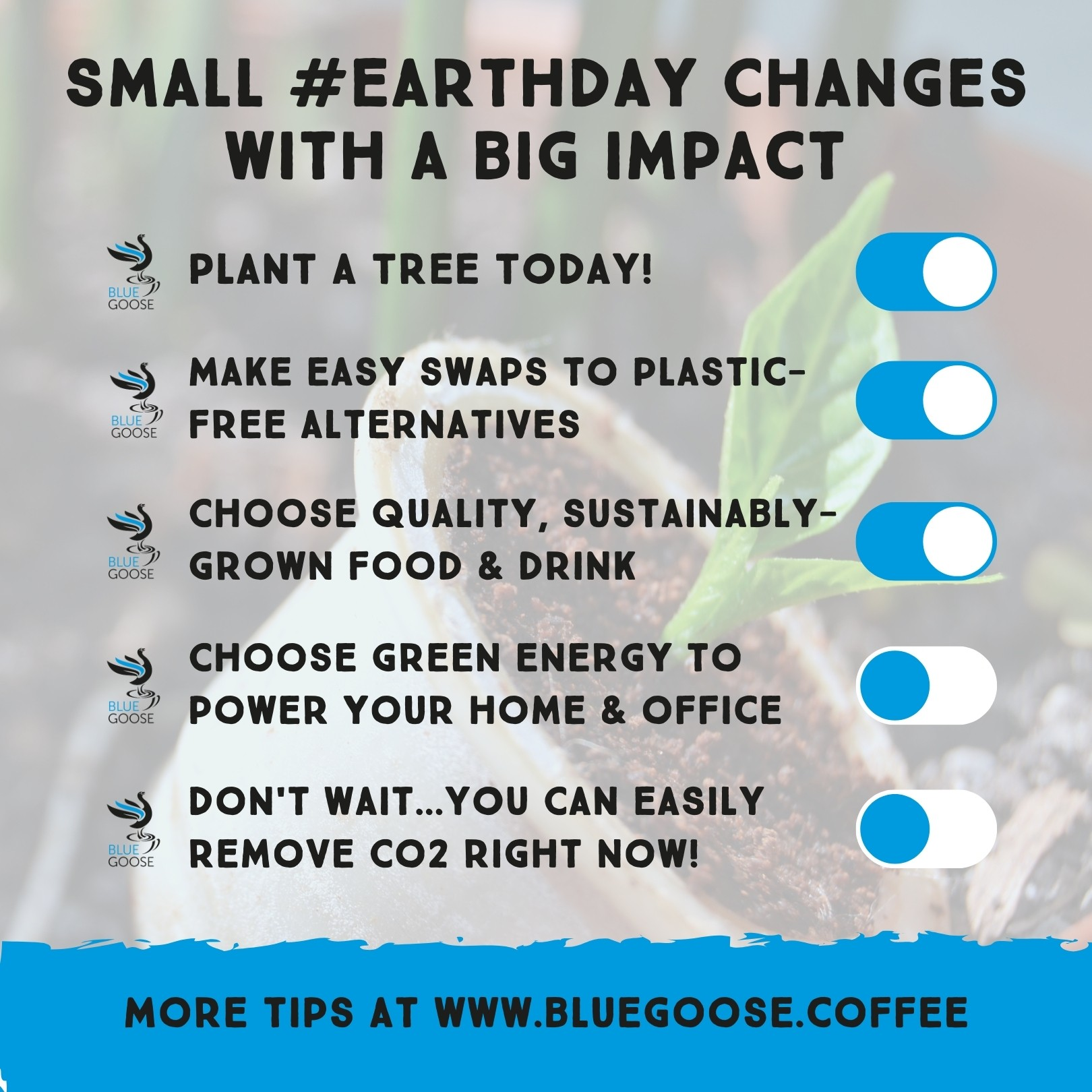 Small #EarthDay Changes with a big impact